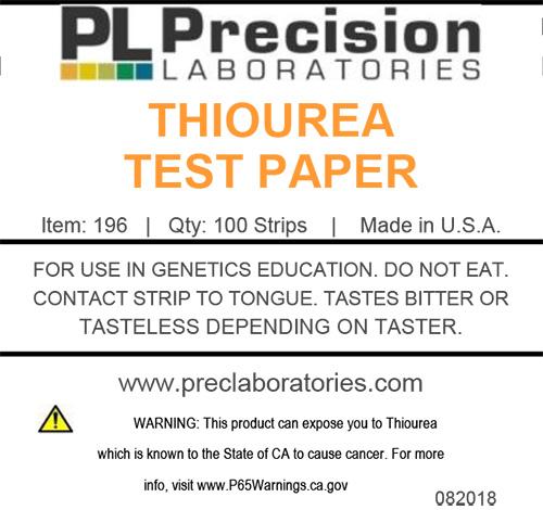 thiourea, thiourea test paper, taste test paper, genetic taste tests